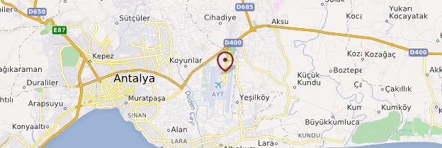 Carte Aéroport d'Antalya - Turquie