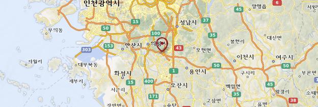 Carte Suwon - Corée du Sud