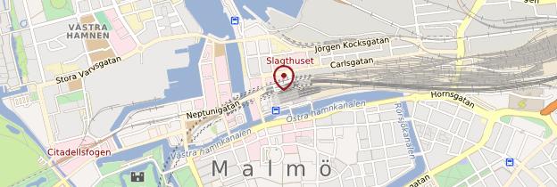 Carte Gare de Malmö - Suède