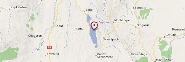Carte Lac Bogoria - Kenya