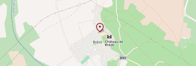 Carte Brézé - Pays de la Loire