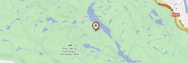 Carte Parc de la Gatineau - Québec
