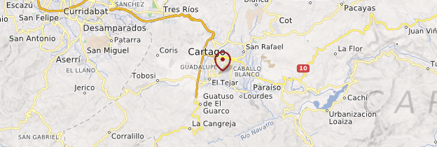 Carte Cartago - Costa Rica