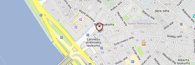 Carte Hôtel de Ville de Riga - Lettonie