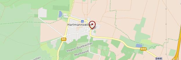 Carte Hartmannswiller - Alsace