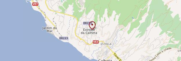 Carte Estreito da Calheta - Madère