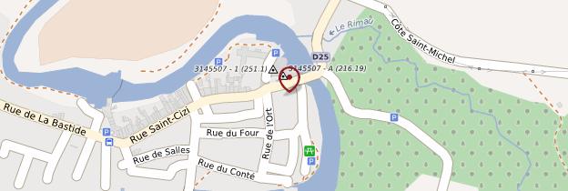 Carte Rieux-Volvestre - Midi toulousain - Occitanie