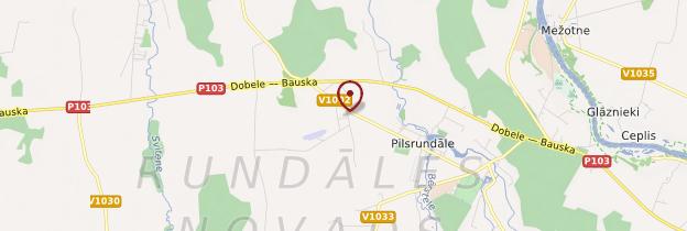 Carte Rundale - Lettonie