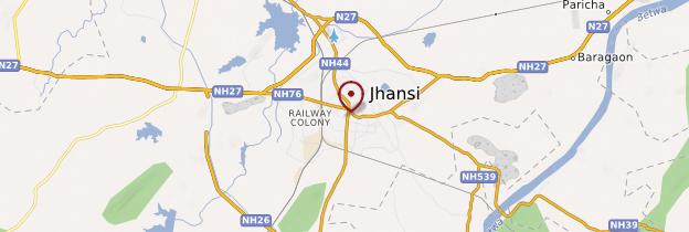 Carte Jhansi - Inde