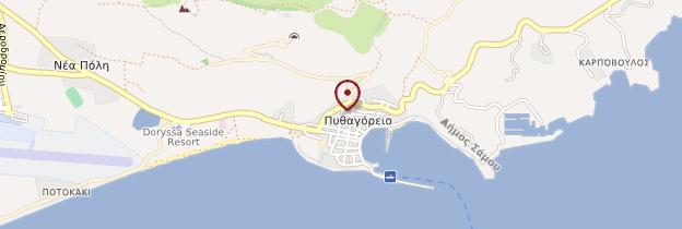 Carte Pythagorio - Îles grecques