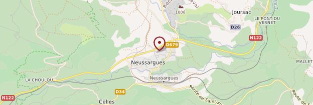 Carte Neussargues-Moissac - Auvergne