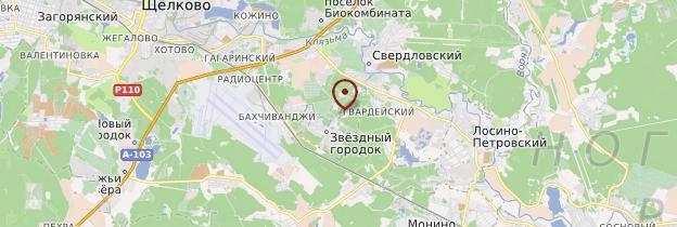 Carte Cité des Etoiles - Russie
