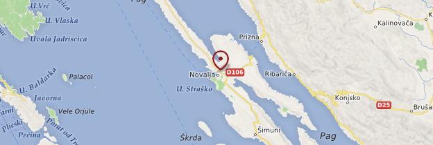 Carte Novalja - Croatie