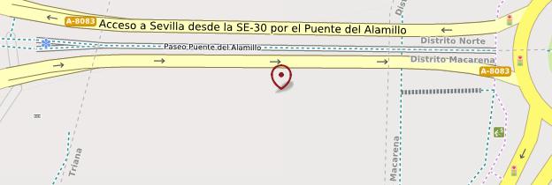 Carte Pont de l'Alamillo - Séville