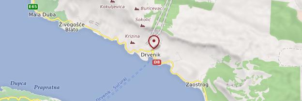Carte Drvenik - Croatie