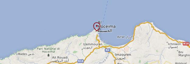 Carte Al Hoceïma - Maroc
