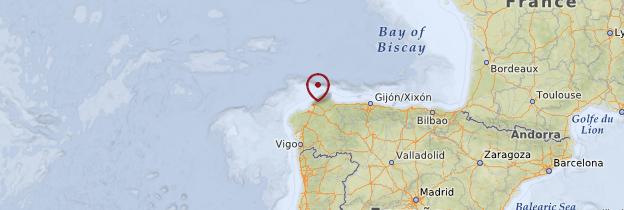 Carte Ferrol - Espagne