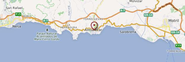 Carte Almuñécar - Andalousie