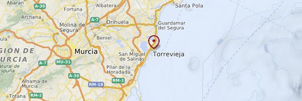 Carte Torrevieja - Espagne