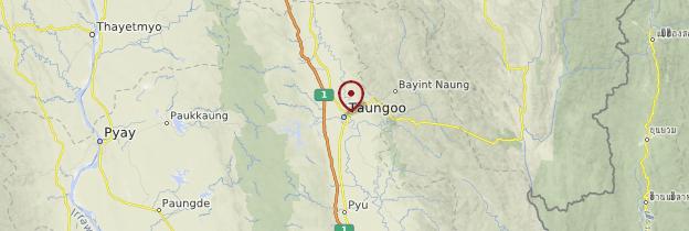 Carte Taungoo - Birmanie