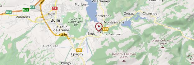Carte Broc - Suisse