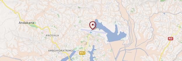 Carte Aéroport international d'Ivato - Madagascar