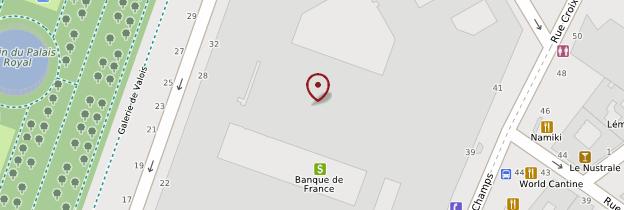 Carte Banque de France - Paris