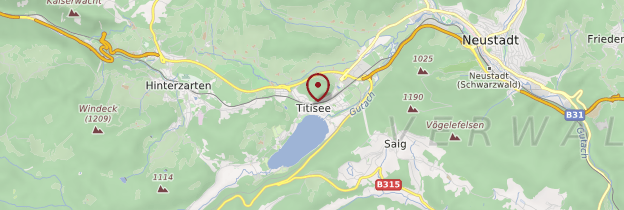 Carte Titisee - Allemagne