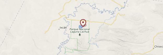 Carte Laguna Lachua - Guatemala