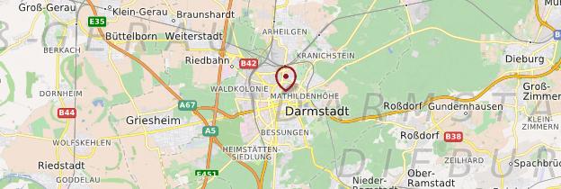 Carte Darmstadt - Allemagne