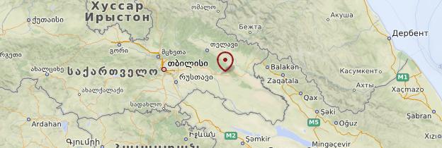 Carte Kakhétie - Géorgie