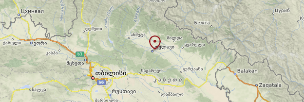 Carte Telavi - Géorgie