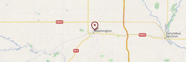 Carte Washington - États-Unis