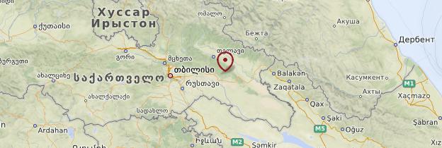 Carte Géorgie orientale - Géorgie