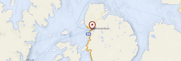 Carte Hammerfest - Norvège