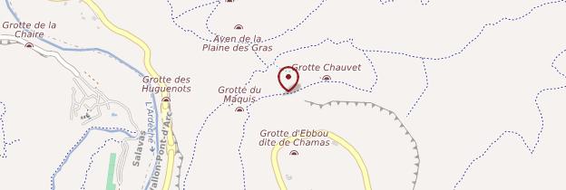 Carte Grotte Chauvet - Ardèche, Drôme