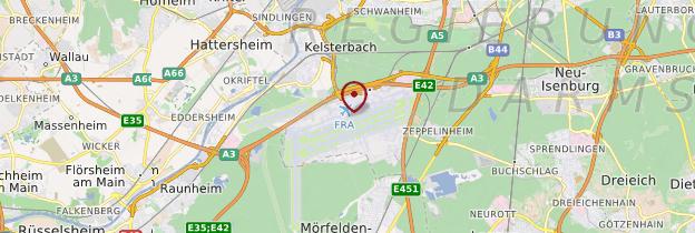 Carte Aéroport de Francfort - Allemagne