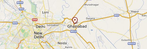 Carte Ghaziabad - Inde