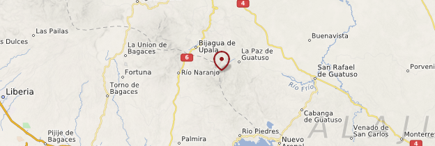 Carte Parc national du volcan Tenorio - Costa Rica