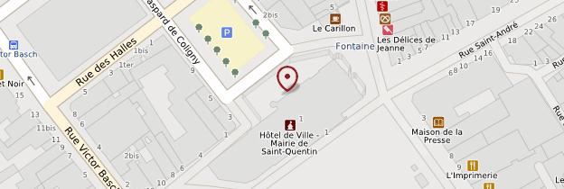 Carte Hôtel de ville de Saint-Quentin - Picardie