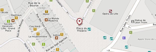 Carte Place du Théâtre - Lille
