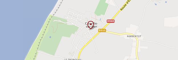 Carte Cauville-sur-Mer - Normandie
