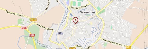 Carte Gravelines - Nord-Pas-de-Calais
