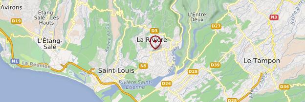 Carte La Rivière-Saint-Louis - Réunion