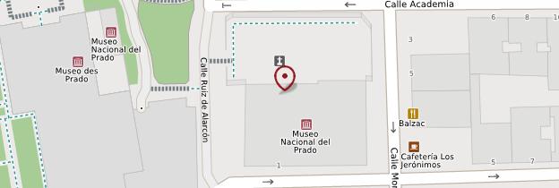 Carte Eglise San Jeronimo el Real - Madrid